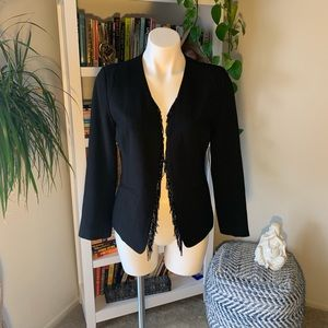 NWT Sam Edelman Black Blazer with Tasel Beading